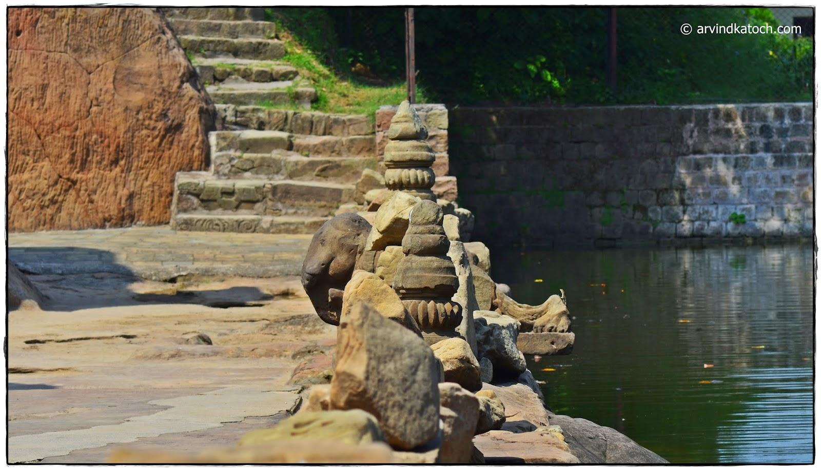 Stone Statue, Masroor Rock Cut Temple, Rock Temple, Kangra