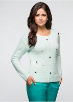 Pulover din material tricotat, moale și călduros(bonprix)