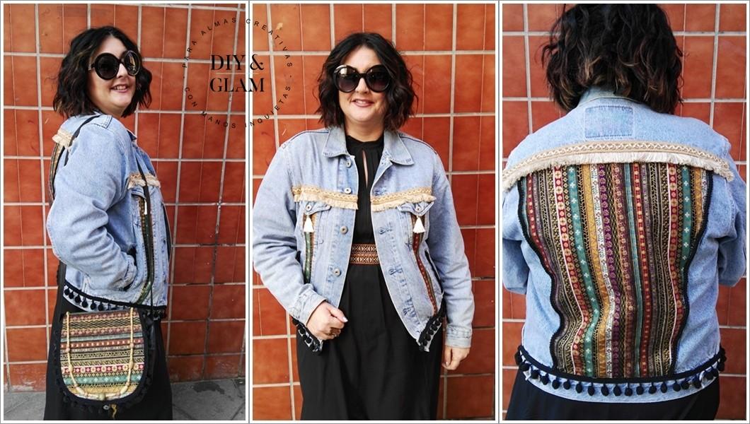 bfa2505fe215 Cómo hacer una chaqueta vaquera de estilo bohemio   Diy & glam