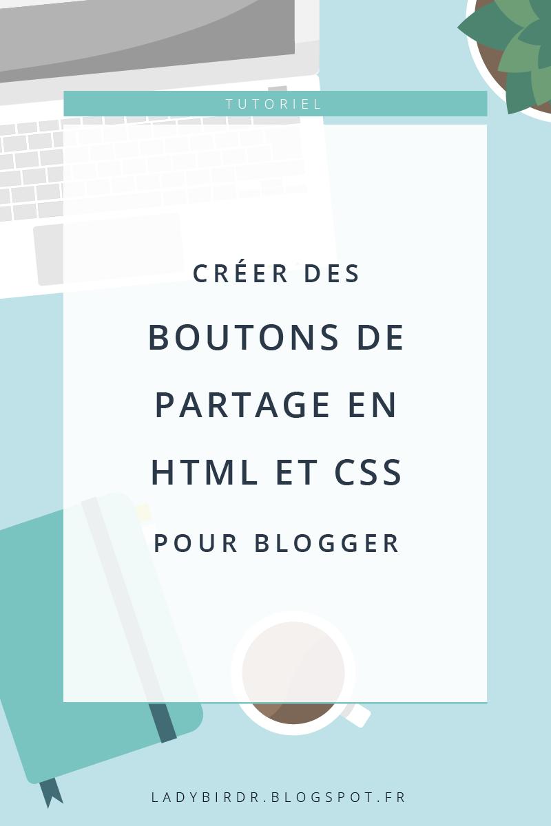 Créer des boutons de partage en HTML et CSS pour Blogger