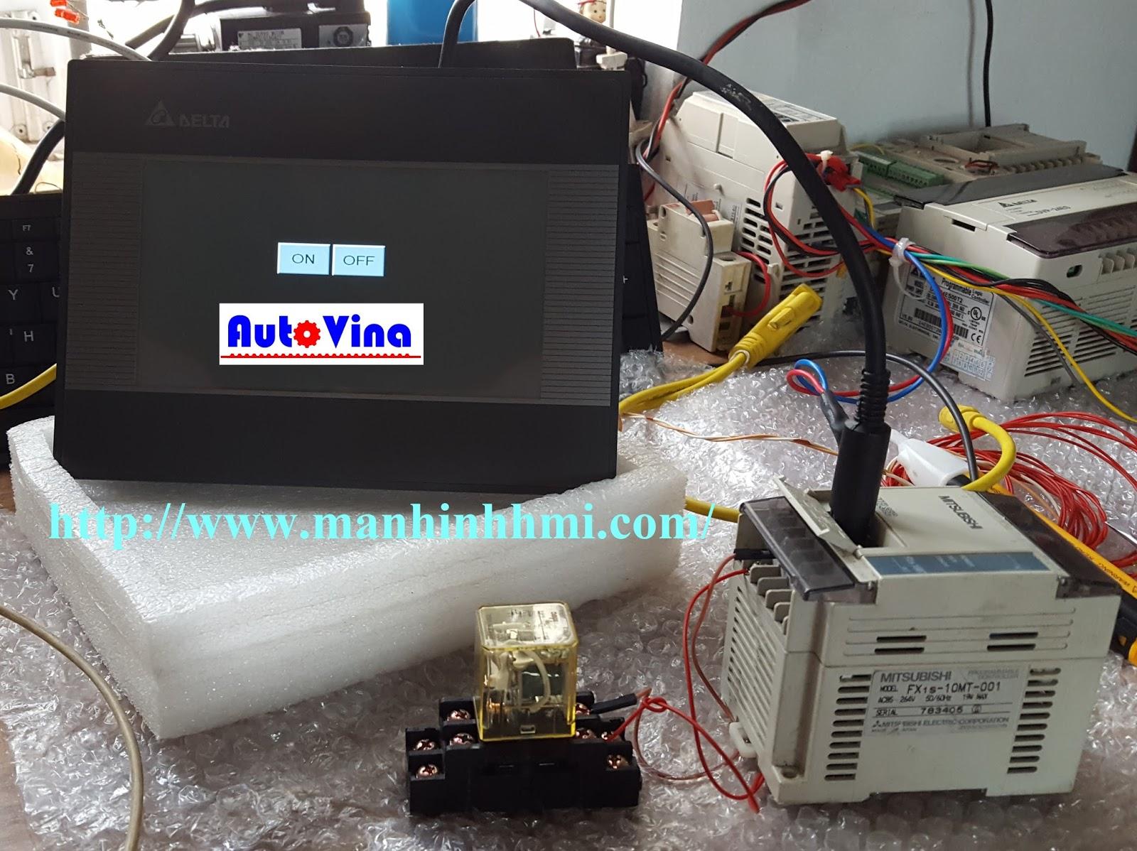 Hướng dẫn kết nối, hàn cable, sơ đồi RS422 màn hình HMI Delta với PLC Mitsubishi