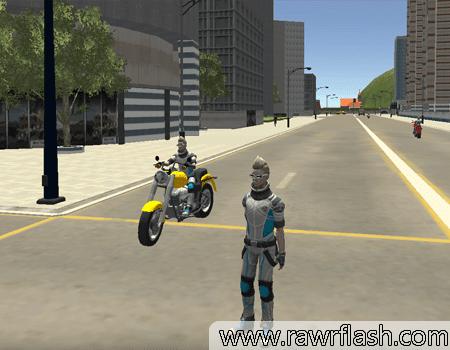 Jogo estilo GTA online de roubar carros, motos e tanks nas ruas, atropelar pessoas e explodir coisas.