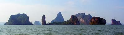 Islands at phang nga bay