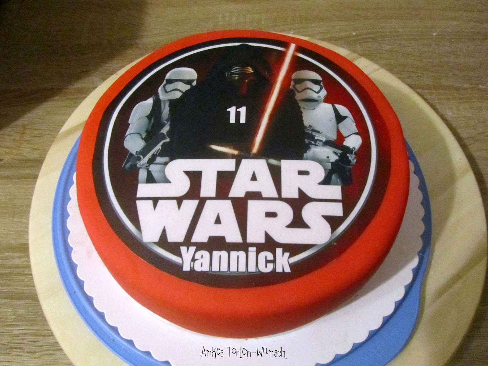 Star Wars Torte Geburtstags Torte Foto Aufleger Fondant Anke S