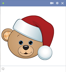 Christmas Teddy Bear Icon for Facebook