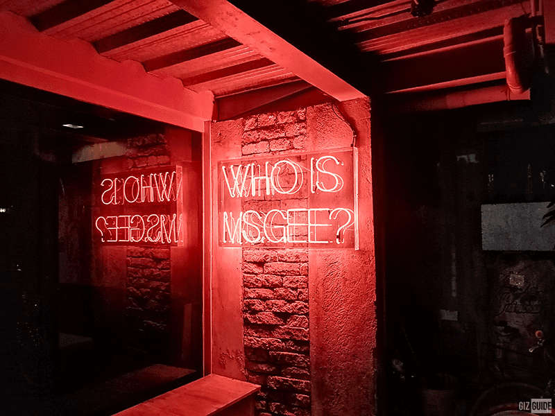 With red lighting