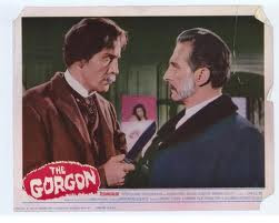 The Gorgon 1964 movieloversreviews.filminspector.com Peter Cushing Christopher Lee