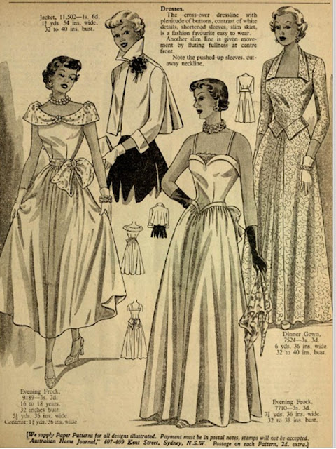 50s or 1940s prom and party gowns to sew