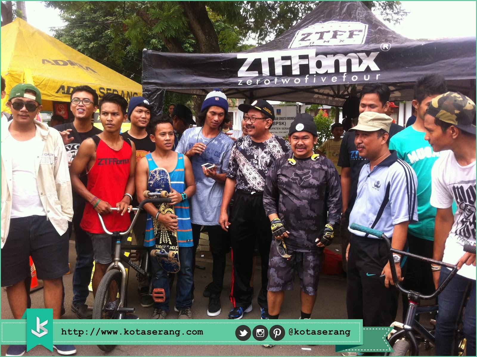 Komunitas BMX Kota Serang Foto Bareng Walikota Serang