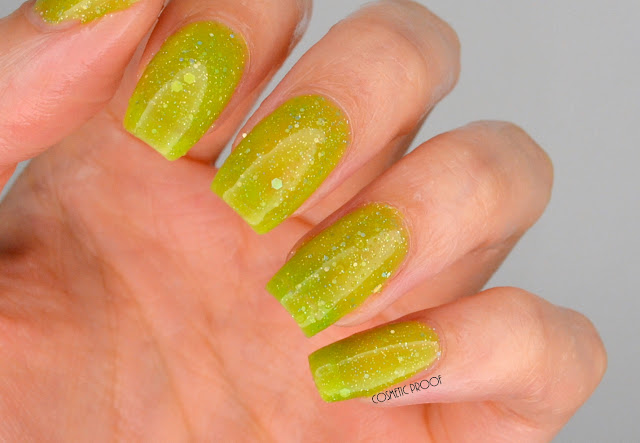 Born Pretty Thermal Color Changing Polish Yellow to Green Swatch