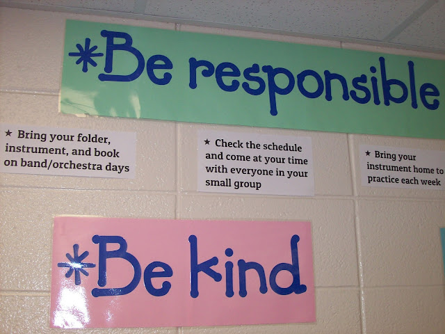Orchestra classroom rules