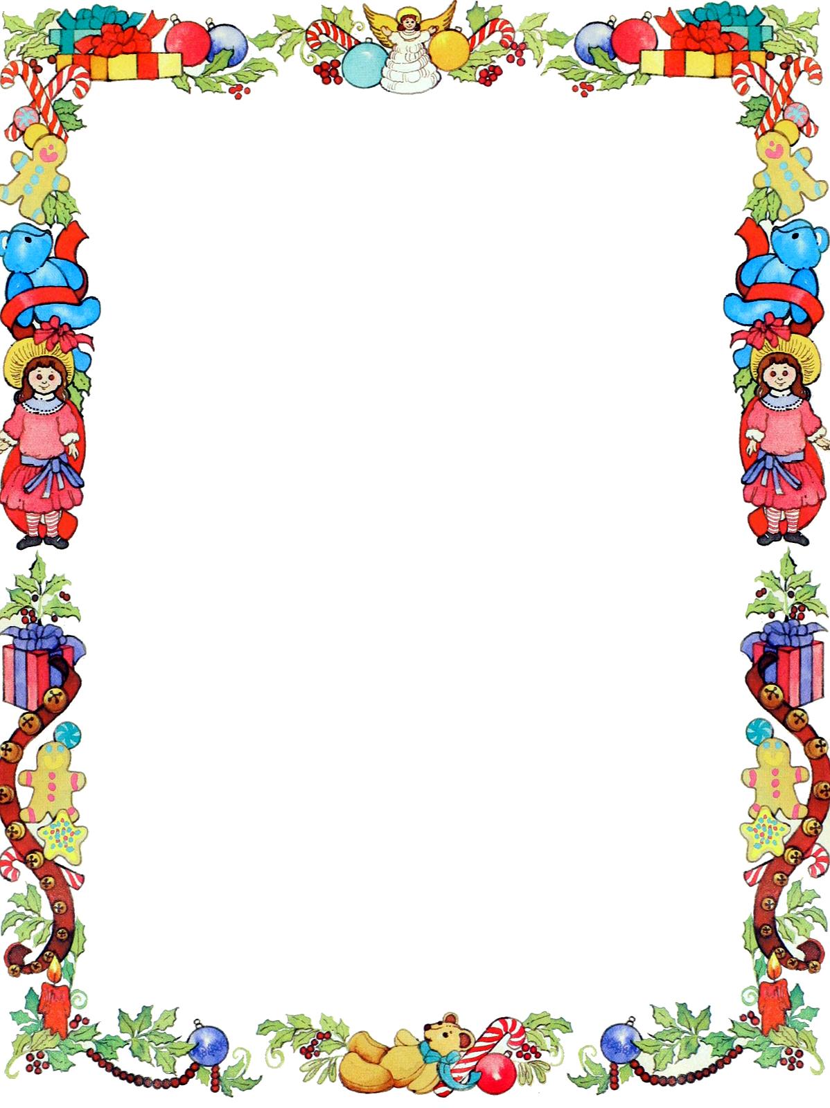 Christmas Toys Clip Art Borders – Cliparts