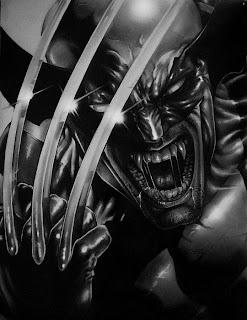 Wolverine retrato a lápiz