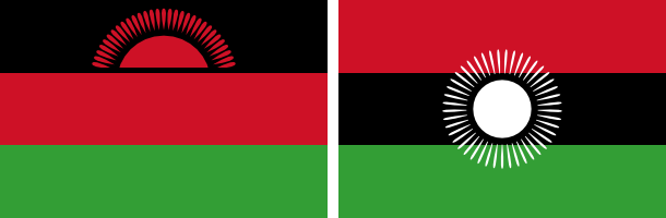 New and old flags of Malawi