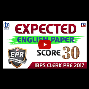 Different Types Of Questions Of English Language | IBPS Clerk Pre 2017