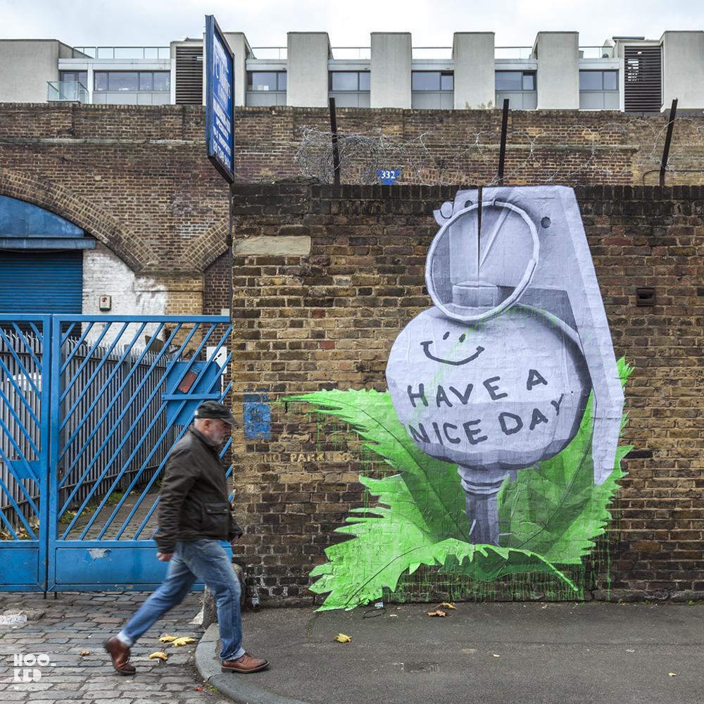 French street artist Ludo's work in London, UK