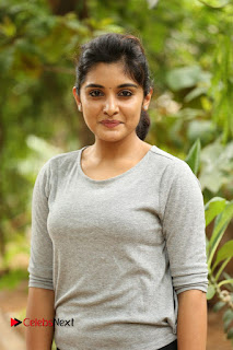 Actress Niveda Thomas Pictures in Black Jeans at Gentleman Movie Interview  0161