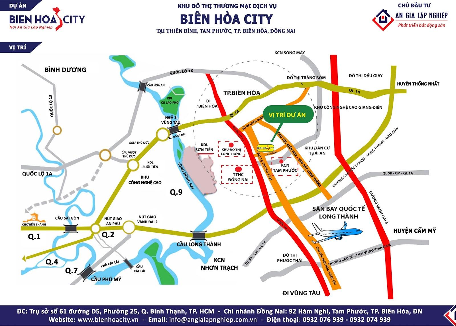Vị trí dự án Biên Hòa City