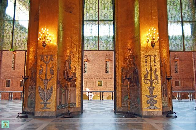 Salón Dorado del ayuntamiento de Estocolmo (Stadshuset)