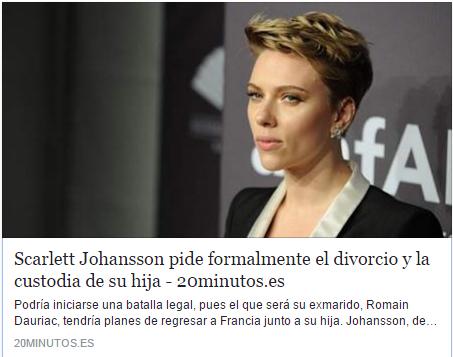 Scarlett Johansson es toda una feminista