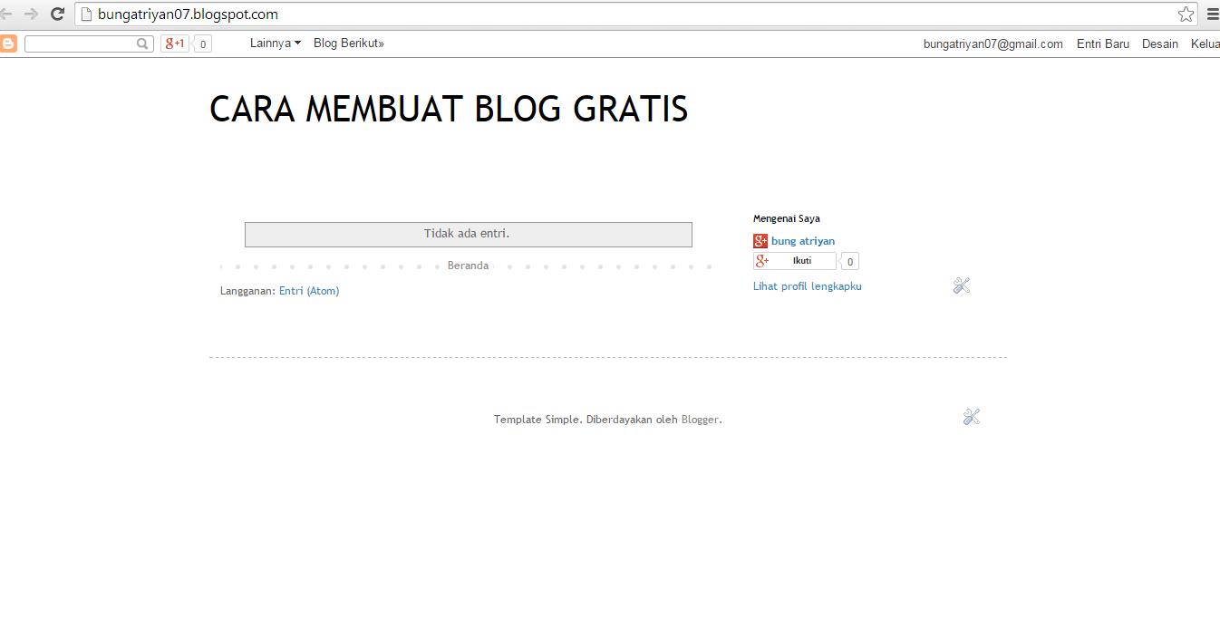 cara membuat blog gratis dan mudah untuk pemula
