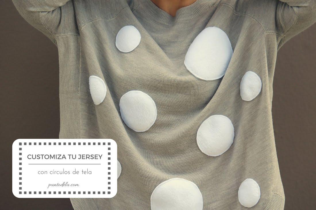 Customiza tu jersey con círculos de tela - Punto de Lu