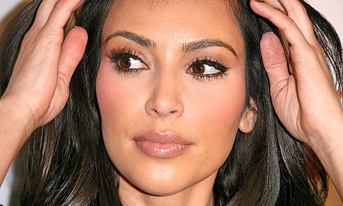 maquillaje de cejas de kim kardashian
