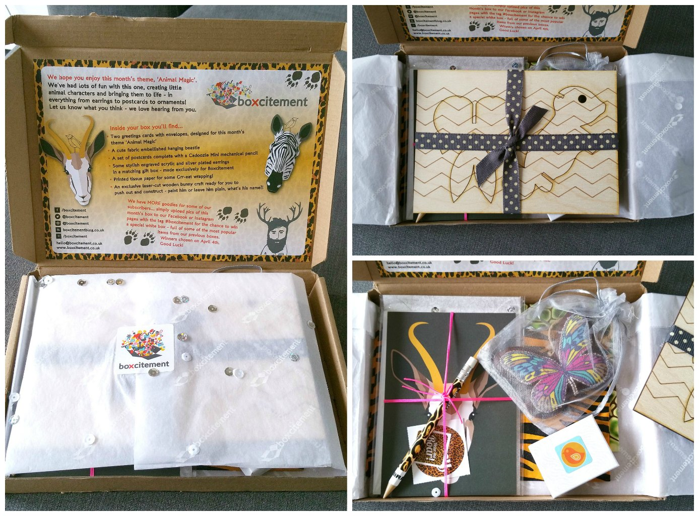 Boxcitement, art and craft subscription box, lifestyle subscription box