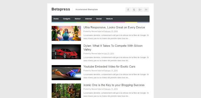 Betapress AMP Blogger Template