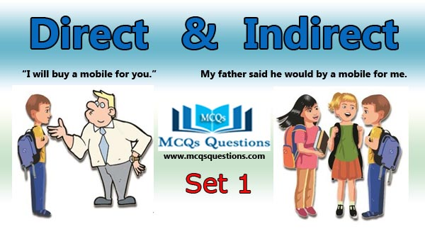 Direct and Indirect Speech MCQs Set 1