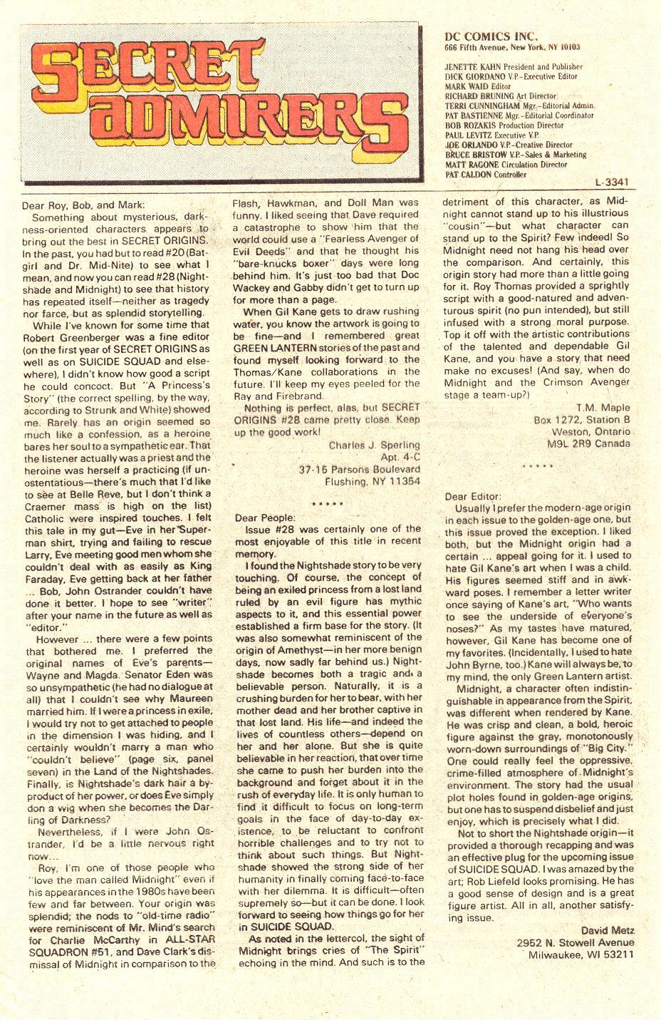 Read online Secret Origins (1986) comic -  Issue #33 - 44