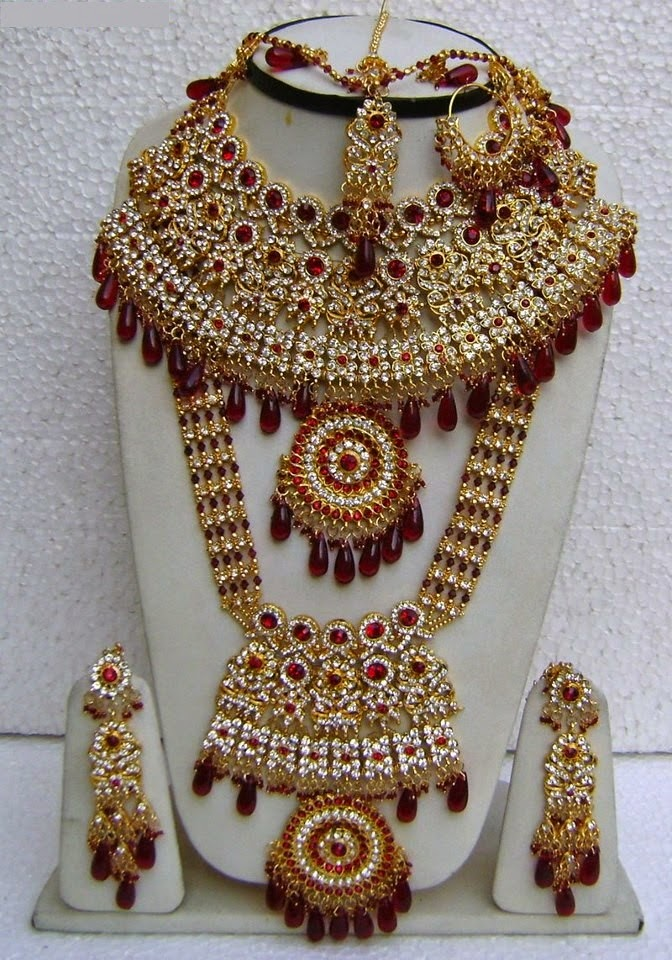 Heavy Bridal Jewellery sets Designs for brides 2015 Images ...
