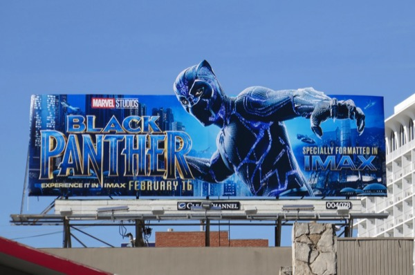 Black Panther movie billboard