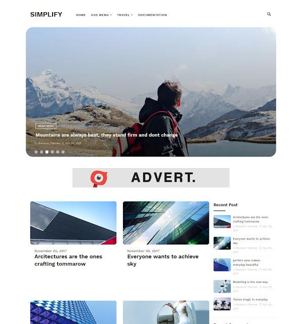 Download Free Premium Simplify Blogger Theme