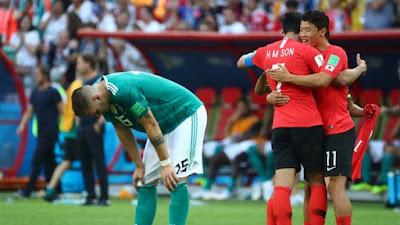 خروج ألمانيا كأس العالم
