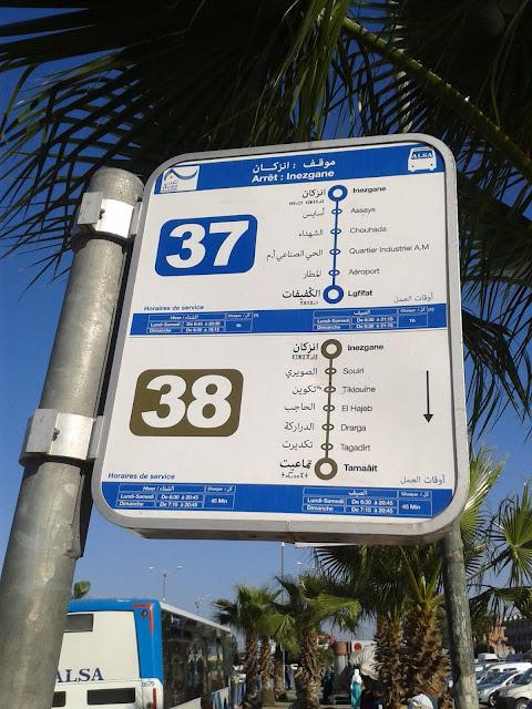Bus n° 37 pour l'aéroport d'Agadir