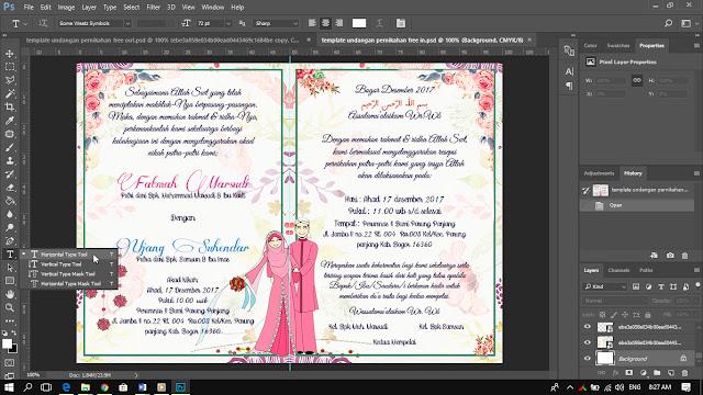 Cara mudah membuat kartu undangan pernikahan dengan photoshop