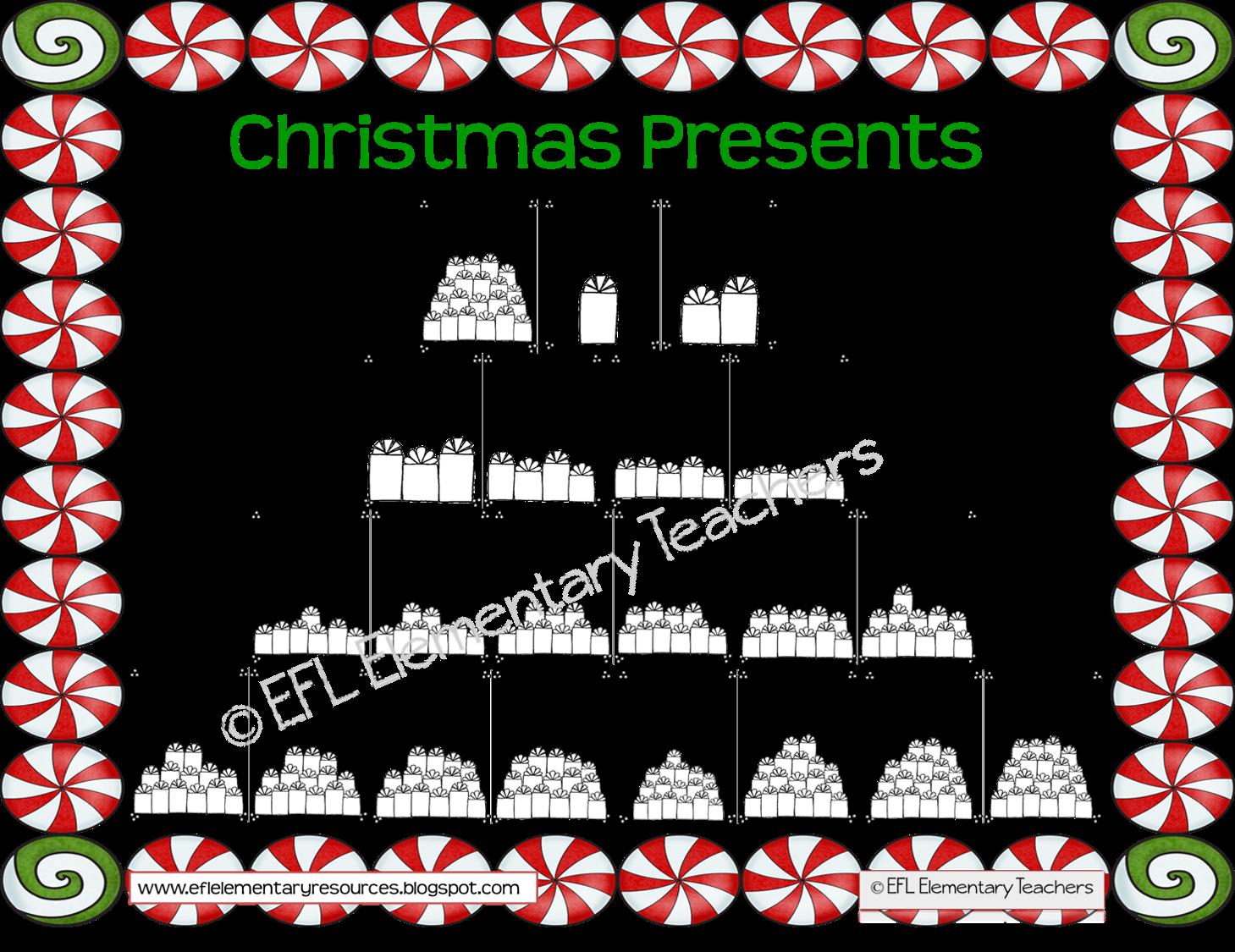 Efl Elementary Teachers Christmas Resources For Esl Efl Ell