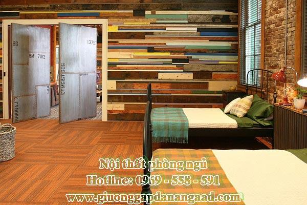 Đa năng với mẫu giường ngủ gấp làm từ gỗ MDF