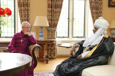 Emir of Kano Muhammadu Sanusi II meets Archbishop of Canterbury