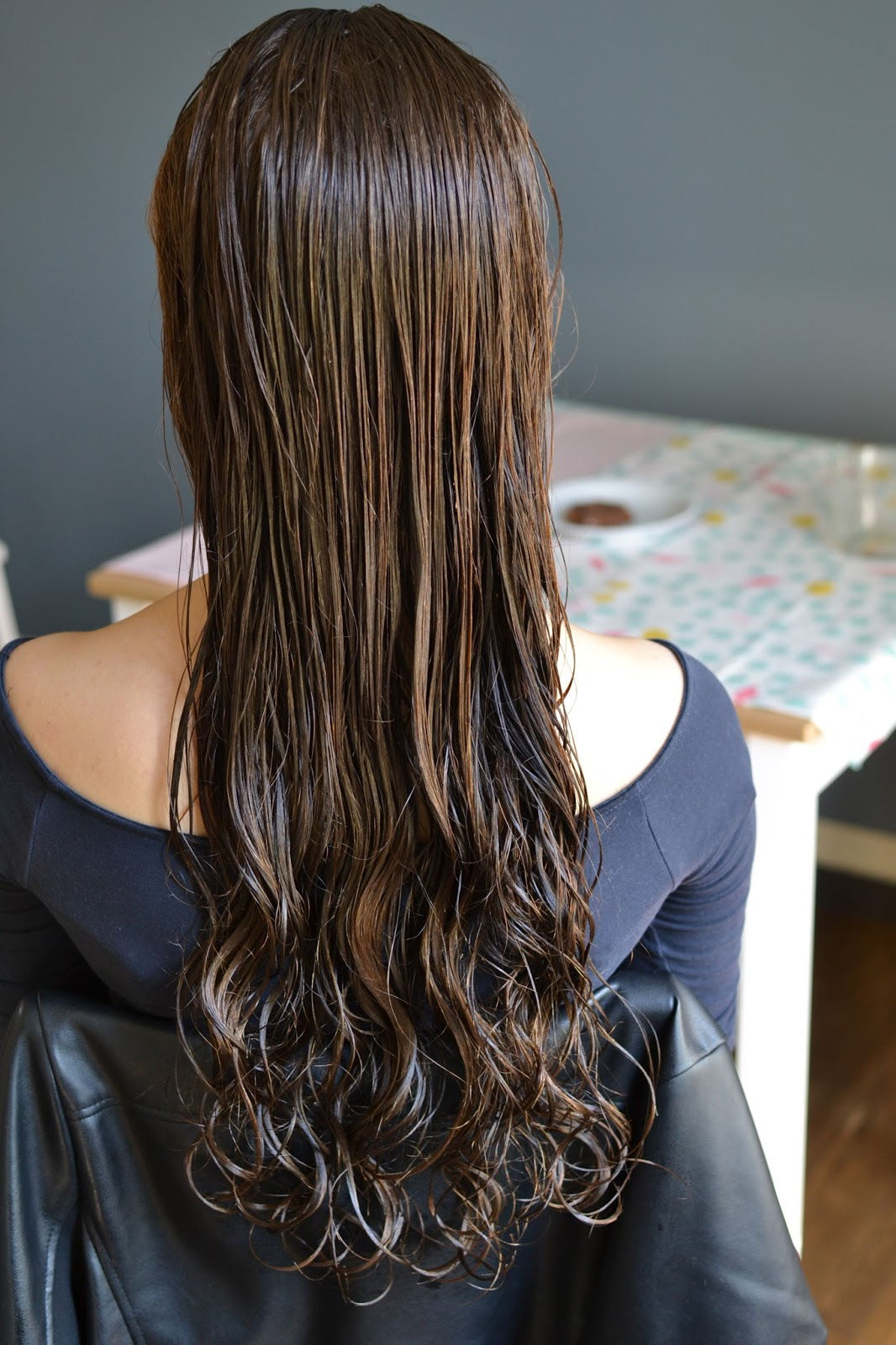 mokre włosy
