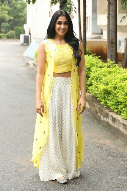 Regina Cassandra in Palazzos and Crop Top