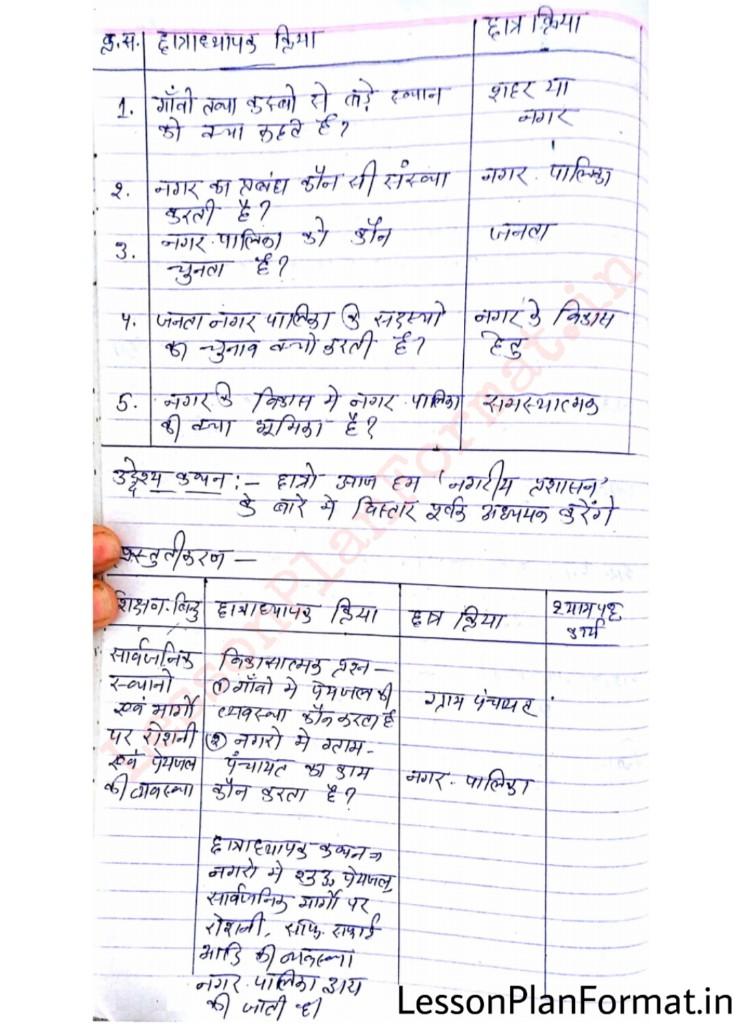 Social Science Class 8 Lesson Plan