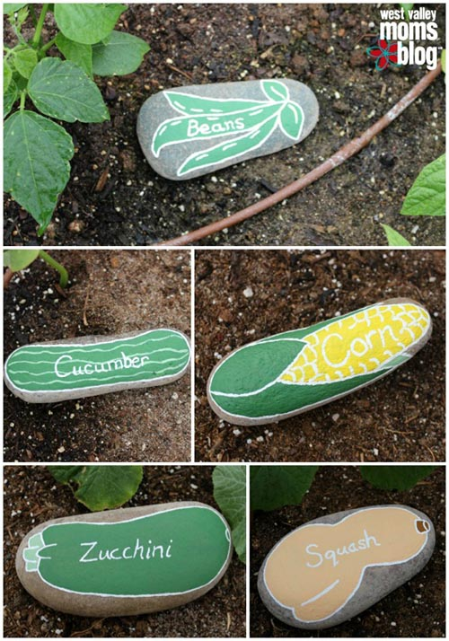 river rock garden markers from west valley moms blog