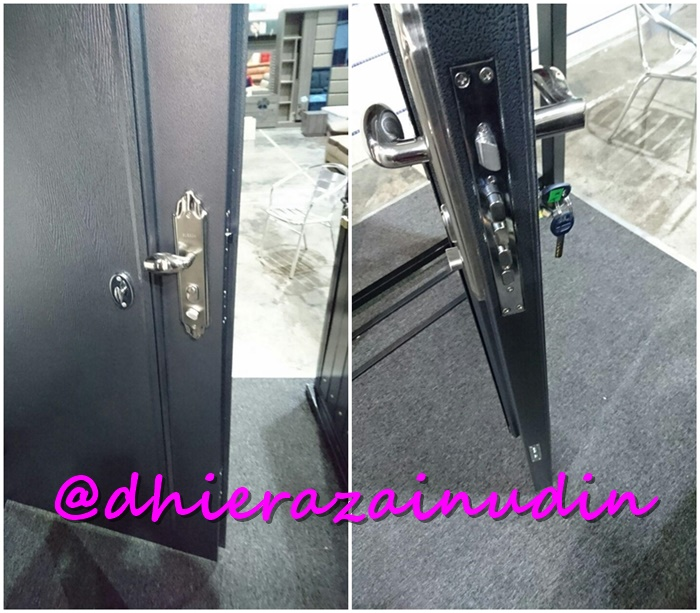 rumah security door dhiera zainudin