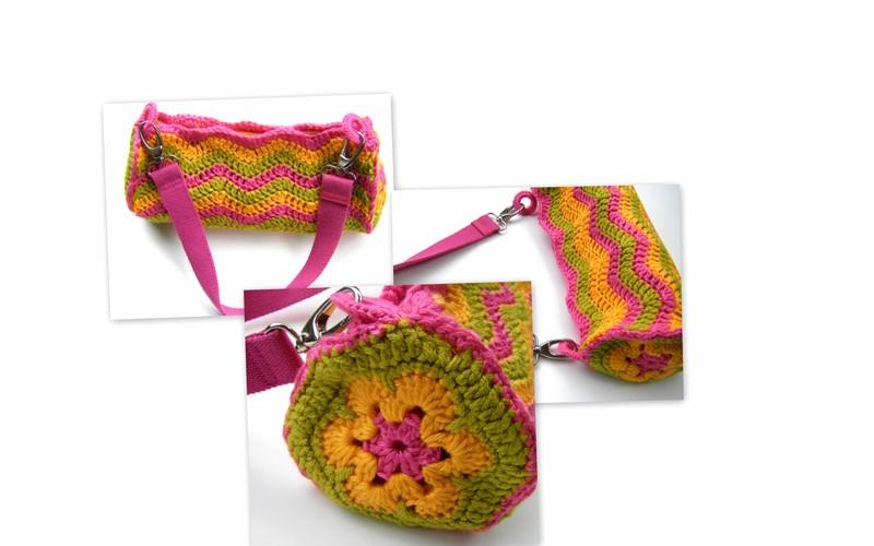 Bolso de Crochet Cilíndrico Método