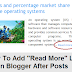 "How To Add ""Read More"" Link In Blogger After Post"
