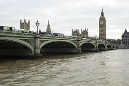Photo of Westminster Bridge, site of a 2017 terror attack by vehicle, photo by Katie Chan, via Wikimedia Commons