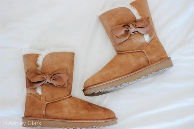 brown bow leather uggs