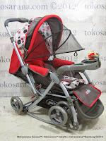 Kereta Bayi Pliko PK398 Rodeo Rocker Hadap Depan Belakang  Red